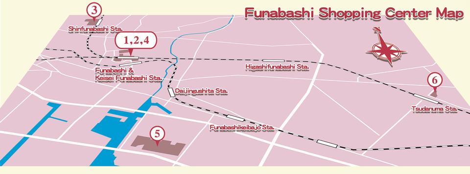 Large Shopping Centers in Funabashi cityTourist Site FUNABASHI Style