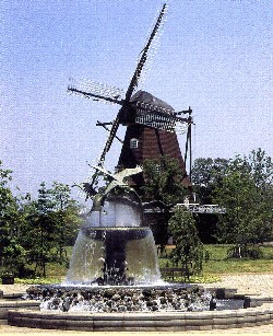 Windmill fountain photograph