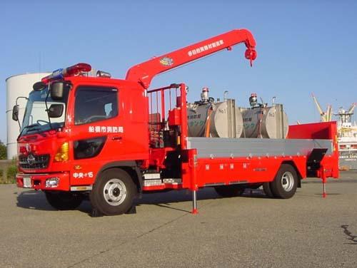 多目的資機材搬送車 お問い合わせ先 消防局総務課 / 電話番号:047-435-1112 /..