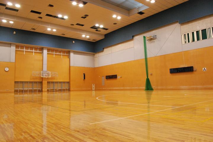 サブアリーナはやや広めの学校体育館のような雰囲気です。